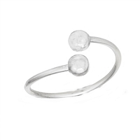 Large Size Ring Sterling Silver Bead Ends