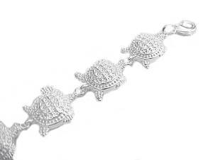 Plus Size Bracelet Turtles 7.5 to 8.5 Inch Long