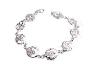 Plus Size Bracelet Sterling Silver Claddagh