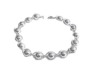 Plus Size Bracelet Sterling Silver Encased Beads