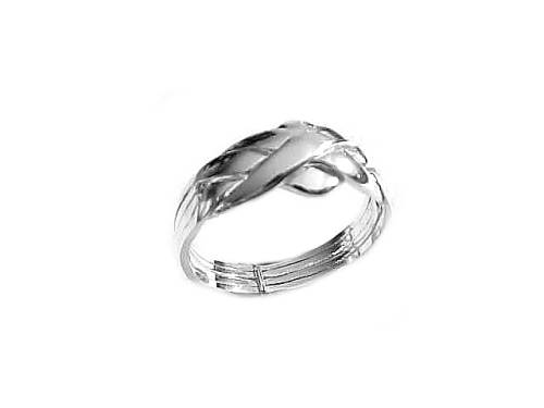 Plus Size Sterling Silver Puzzle Ring