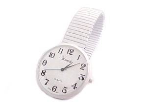 Plus Size Watch White Stretch
