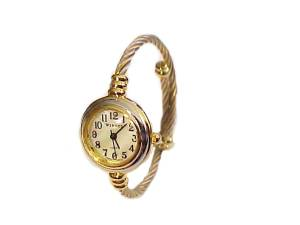 Plus Size Watch Cable Wrap Silver and Gold