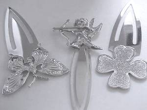 Sterling Silver Bookmarker Cupid or Shamrock