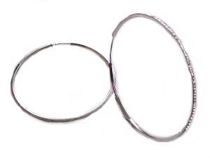 Sterling Silver Endless Large Hoop Earrings