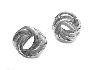 Sterling Silver Earrings Bold Swirl