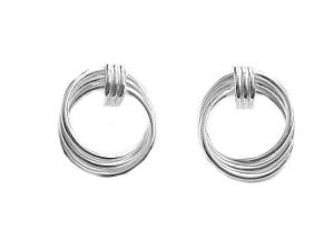 Sterling Silver Earrings Triple Swirl