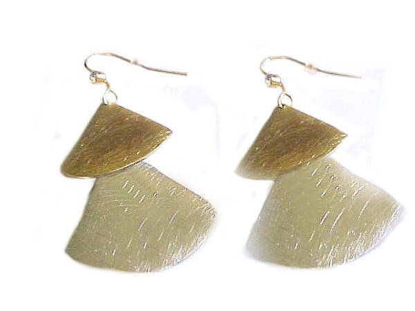 Fashion Jewelry Earrings Two Tone Fans