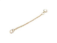 14K Gold Necklace Extender Extension 2 inch