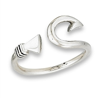 Plus Size Ring Sterling Silver Fish Hook