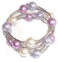 Purples and White Bracelet Size 8-9-10