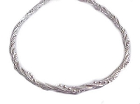 Sterling Silver Fancy Bracelet 9-10 Inch