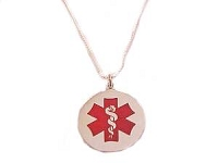 Plus Size Necklace Medical Alert Long Chains