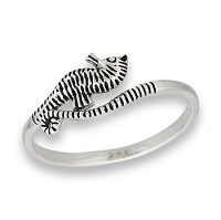 Plus Size Ring Sterling Silver Seahorse