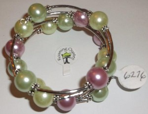Lime Greens and Pink Bracelet Size 8-9-10 Inch