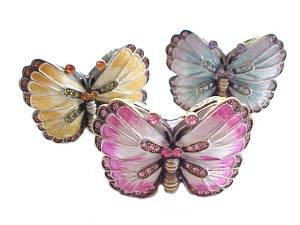 Butterfly Trinket Box or Pill Box