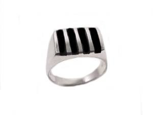 Black Onyx Silver Ring 10 to Large Size 17