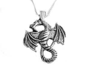 Men's Stainless Steel Dragon Necklace Style 2