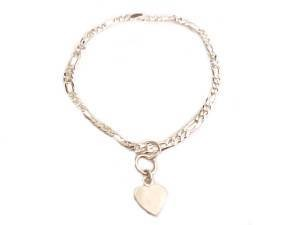 at jewellery end heart charm tail flat charms necklace rose gold vermeil