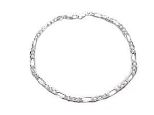 Plus Size Bracelet Sterling Silver Figaro 9 or 10 Inch