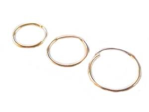 Gold Earrings Small Endless Hoop Earrings