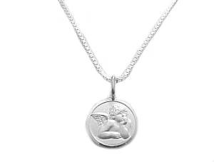 Guardian Angel Sterling Silve Necklace Long Chains