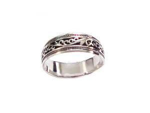 Plus Size Ring Sterling Silver Ring Fancy Band