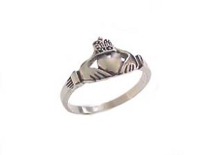 Plus Size Claddagh Ring Stainless Steel 5 to 18