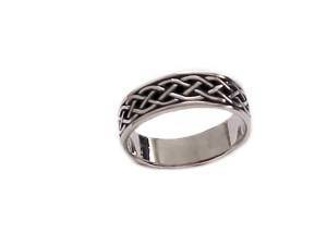 Sterling Silver Plus Size Ring Celtic Band 7 To 14