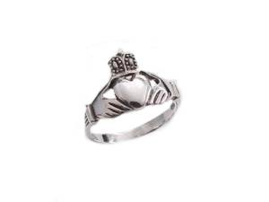 Sterling Silver Claddagh Ring Plus Size Ring 6-13