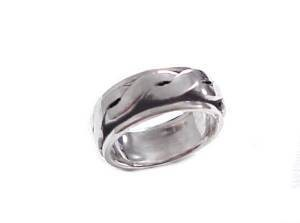 Sterling Silver Braid Worry Ring Spinner Ring