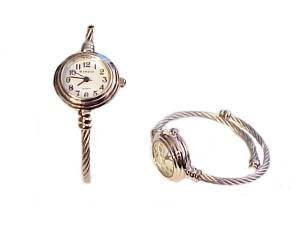 Plus Size Watch Women's Cable Wrap Silver