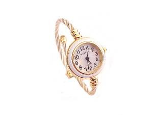Plus Size Watch Women's Cable Wrap Gold and White