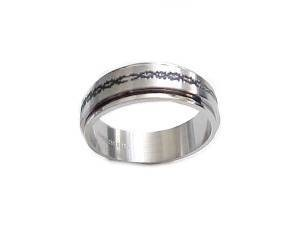 Plus Size Worry Ring Spinner Stainless Steel Fancy