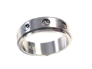 Worry Ring Stainless Steel Ying and Yang 8-13