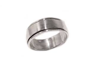 Sterling Silver Worry Ring Spinner Flat Band