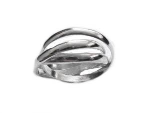 Plus Size Ring Sterling Silver Triple Band