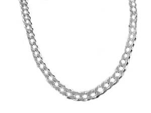 "Sterling Silver Chain 20"" Curb Style 180"