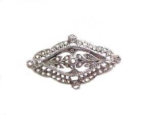 Sterling Silver Pin or Brooch Antique Style Made in Italy