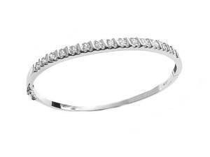 Sterling Silver Plus Size Bangle Bracelet 8 Inch