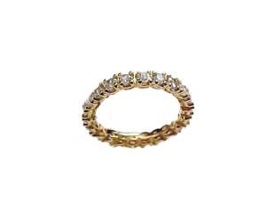 14k Gold Plus Size Ring Cz Wedding Band Sz 13