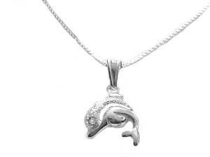 Women's Dolphin Sterling Silver Necklace