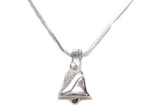 Bell Sterling Silver Necklace Long Chains