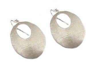 Fashion Jewelry Earrings Oval Silver Hoops