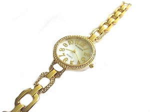 Plus Size Watch Gold Tone Fancy