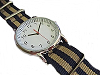 Navy and Beige Plus Size Watch to 9 Inch