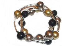 Large Size Bracelet in Fall Colors 8 to 10 Inch