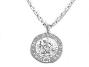 Men's Sterling Silver St. Christopher Necklace