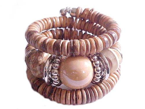 Plus Size Bracelet Earth Tones Fashion Jewelry