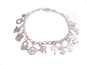 Plus Size Bracelet Sterling Silver Charms